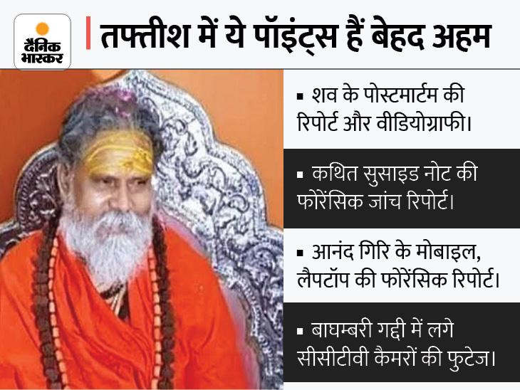 महंत नरेंद्र गिरि और मठ से जुड़े 2 अन्य संतों की मौत का राज भी खंगालेगीCBI,आनंद, बलवीर के बयान भी जांच के दायरे में|वाराणसी,Varanasi - Dainik Bhaskar