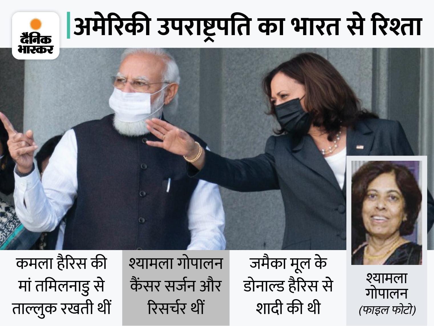 प्रधानमंत्री से बातचीत में US प्रेसिडेंट ने कमला हैरिस के इंडियन कनेक्शन का जिक्र किया, हैरिस की मां को बेहतरीन महिला बताया|विदेश,International - Dainik Bhaskar