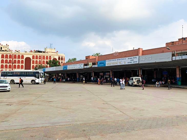 रीट से पहले वीरान हुआ जयपुर का सिंधी कैंप बस अड्डा।