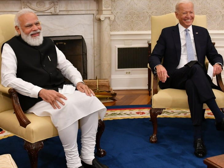 The Modi-Biden meeting lasted about 20 minutes between moments of laughter.