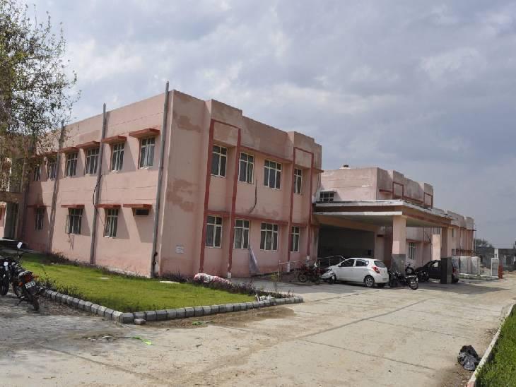 अस्पताल में तैयार हुई बिल्डिंग, कोरोना की तीसरी लहर से पहले बनकर हो जाएगी तैयार हापुड़,Hapud - Dainik Bhaskar