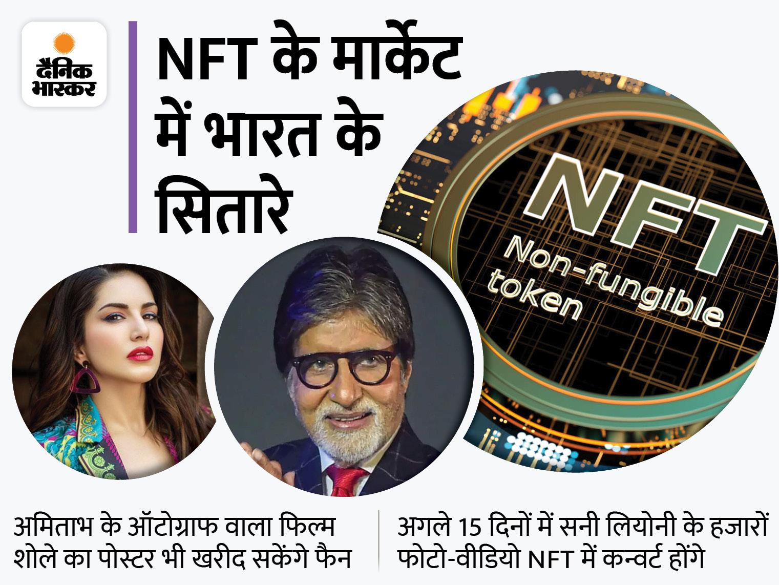 NFT मार्केट में अमिताभ-सनी लियोनी भी, बिग बी अपनी आवाज में पिता की कविता मधुशाला बेचेंगे, सनी अपने फोटो-वीडियो|बॉलीवुड,Bollywood - Dainik Bhaskar