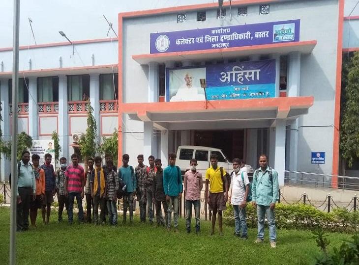 प्रकाशम जिला प्रशासन व पुलिस की मदद से सभी 11 मजदूरों को ठेकेदार के चंगुल से छुड़वा लिया है।