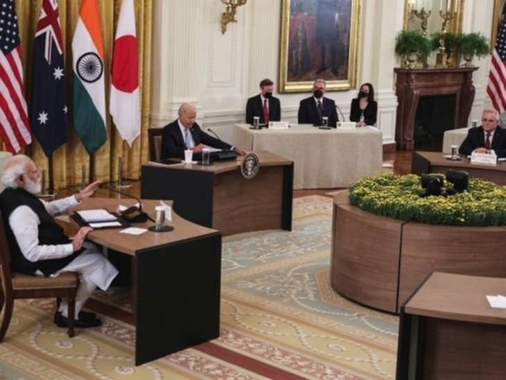 PM मोदी ने कहा कि मुझे विश्वास है कि QUAD में हमारा सहयोग हिंद-प्रशांत के साथ-साथ पूरी दुनिया में शांति और समृद्धि सुनिश्चित करेगा। - Dainik Bhaskar