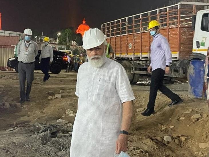 अमेरिका से लौटने के बाद प्रधानमंत्री ने देखा नए संसद भवन का काम, एक घंटे तक लिया काम का जायजा देश,National - Dainik Bhaskar