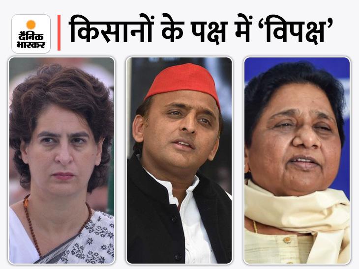 प्रियंका बोलीं- BJP सरकार अपने खरबपति मित्रों को कब्जा करवाने को आतुर, अखिलेश बोले- दंभी भाजपा को सत्ता में रहने का अधिकार नहीं|लखनऊ,Lucknow - Dainik Bhaskar