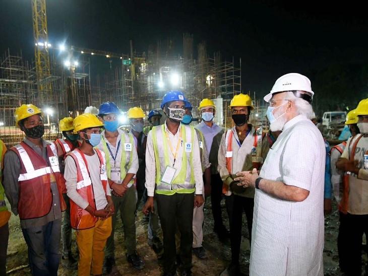 अमेरिका से लौटने के बाद प्रधानमंत्री ने देखा नए संसद भवन का काम, एक घंटे तक लिया जायजा|देश,National - Dainik Bhaskar
