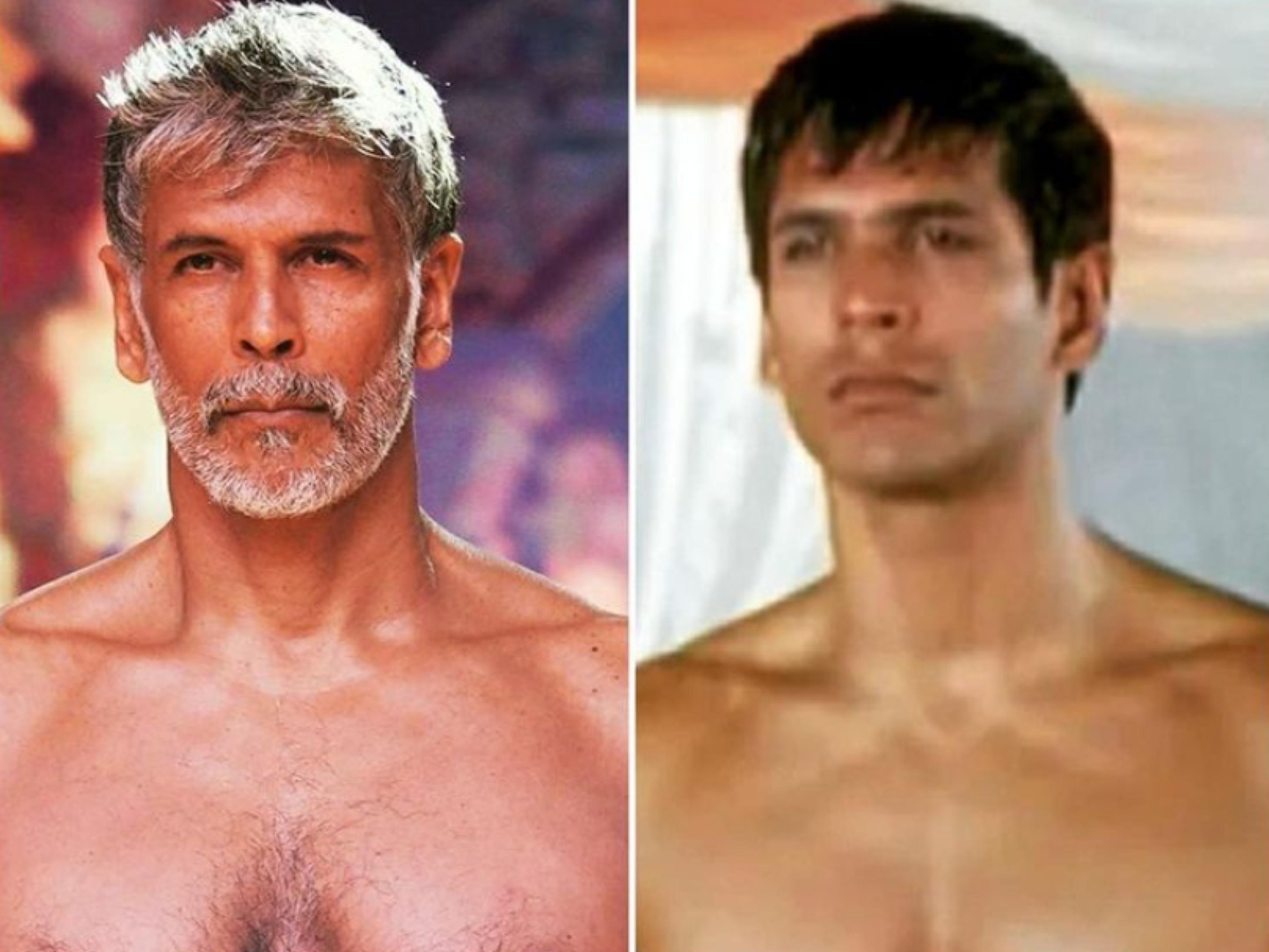 धोती पहनकर रैंप पर उतरे मिलिंद सोमन, 'मेड इन इंडिया' लुक देखकर मलाइका अरोड़ा के उड़ गए होश|बॉलीवुड,Bollywood - Dainik Bhaskar