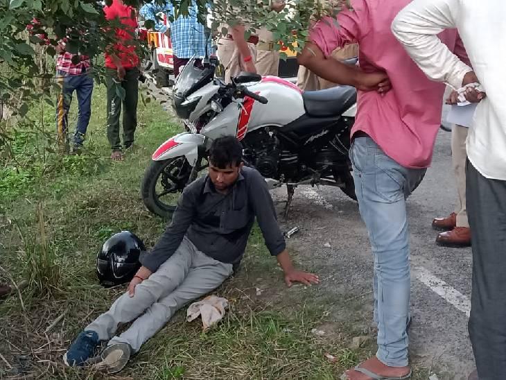 ग्राहक सेवा केंद्र संचालक की बाइक पर टक्कर मार कर गिराया, फिर असलहे के दम पर 4 लाख रुपए लूट लिए गोंडा,Gonda - Dainik Bhaskar