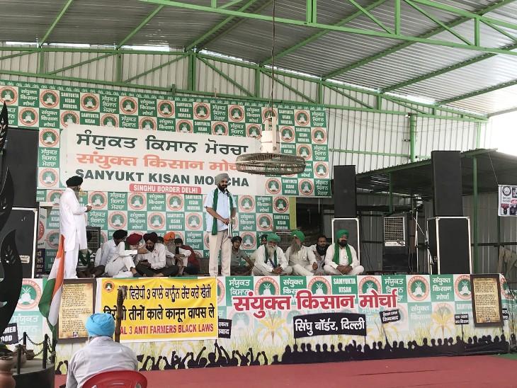 प्रदर्शन के दौरान दिल्ली-सिंघु बॉर्डर पर दिल का दौरा पड़ने से एक किसान की मौत, 10 घंटे बाद दिल्ली-गाजीपुर बॉर्डर खुला|देश,National - Dainik Bhaskar