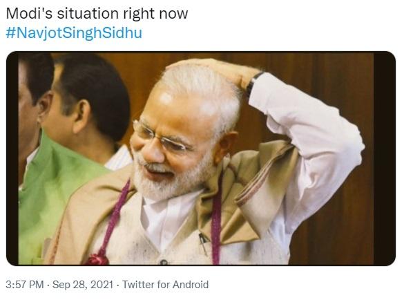 जब सिद्धू के इस्तीफे खबर पीएम मोदी ने सुनी।