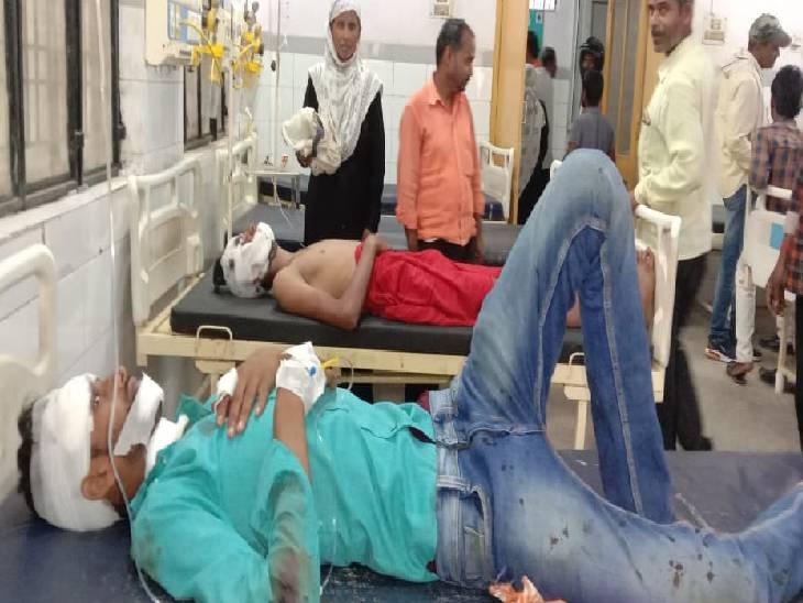 ऑटो और कार में हुई भिड़ंत, पांच लोग हुए घायल|सोनभद्र,Sonbhadra - Dainik Bhaskar