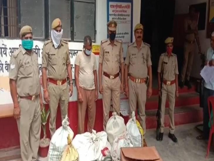 पुलिस ने देसी बम और पटाखे बनाने वाला उपकरण भी किया बरामद भदोही,Bhadohi - Dainik Bhaskar
