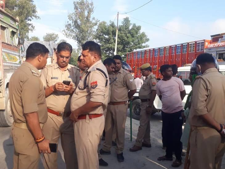 कोचिंग के लिए निकली छात्रा की ट्रक से दबकर मौत, ग्रामीणों ने किया चक्का जाम मिर्जापुर,Mirzapur - Dainik Bhaskar