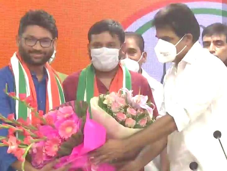 कन्हैया कुमार कांग्रेस में शामिल हो गए। कार्यक्रम में राहुल गांधी नहीं आए।