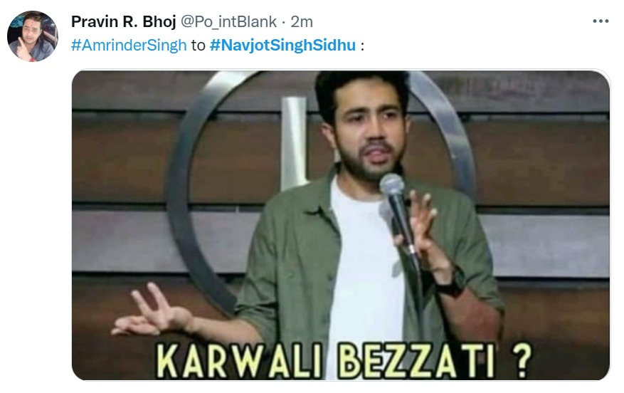 अमरिंदर सिंह का कांग्रेस हाईकमान को जवाब।