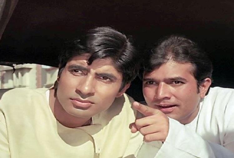 फिल्म आनंद में अमिताभ बच्चन और राजेश खन्ना।