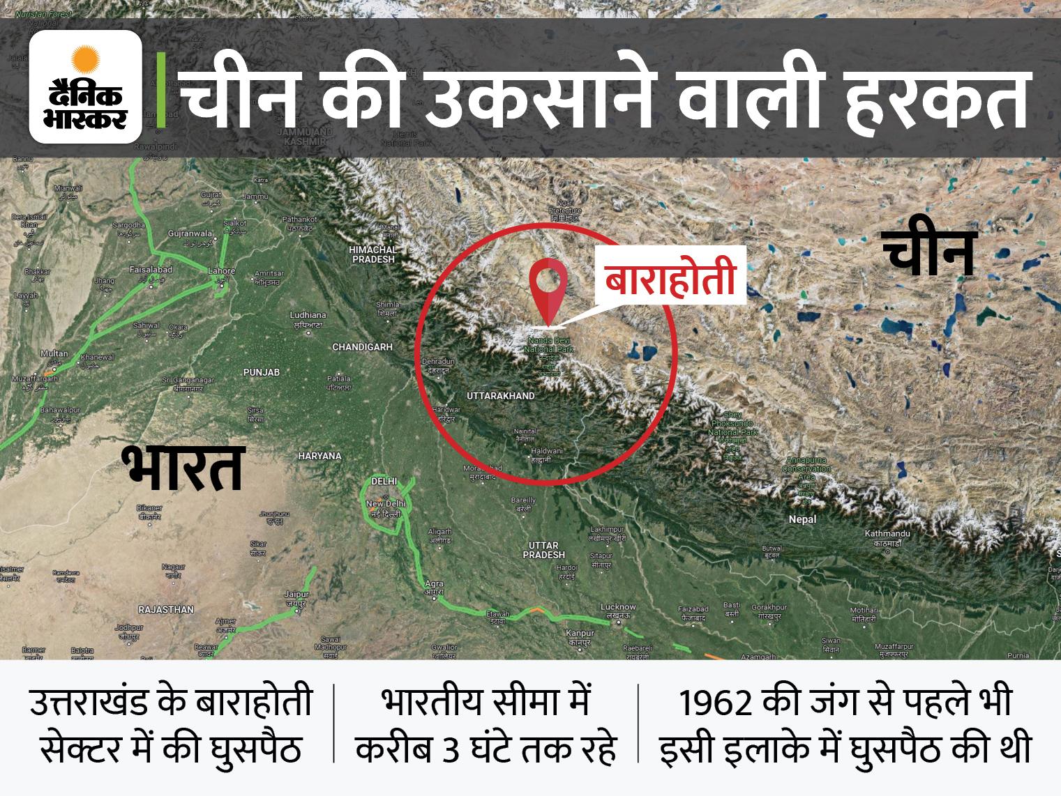 चीन के 100 सैनिकों ने पिछले महीने उत्तराखंड के पास बॉर्डर क्रॉस किया, पुल तोड़कर भागे; अब हुआ खुलासा|देश,National - Dainik Bhaskar
