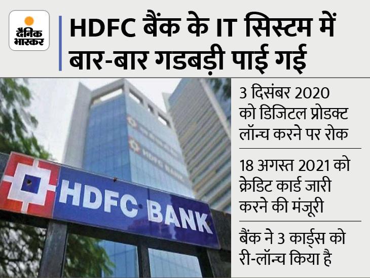 HDFC बैंक ने एक महीने में 4 लाख क्रेडिट कार्ड्स जारी किया, RBI ने अगस्त में हटाया था प्रतिबंध बिजनेस,Business - Dainik Bhaskar