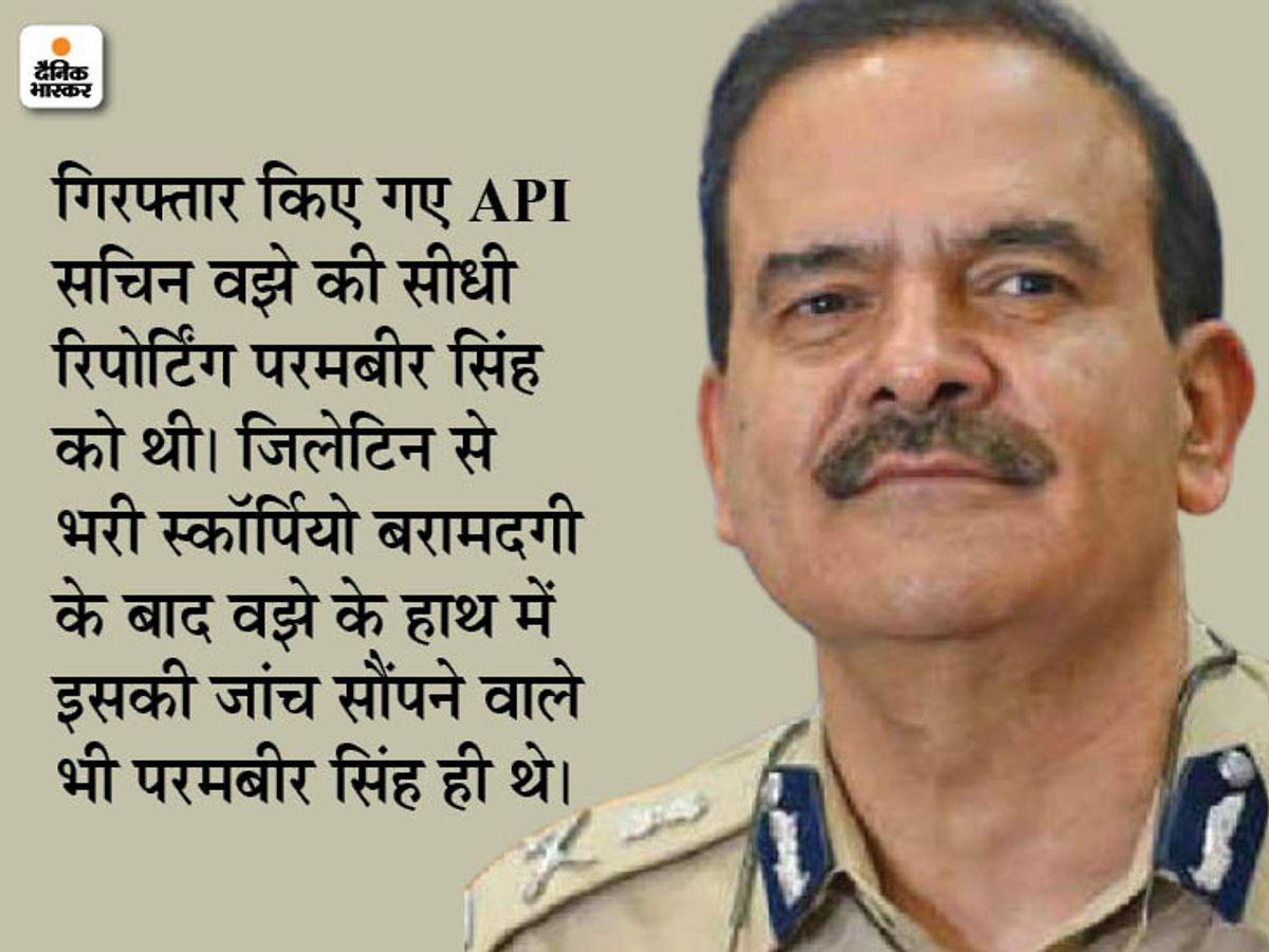 NIA को शक- मुंबई के पूर्व पुलिस कमिश्नर परमबीर सिंह भारत छोड़कर भागे, यूरोप के किसी देश में छिपने की आशंका|महाराष्ट्र,Maharashtra - Dainik Bhaskar