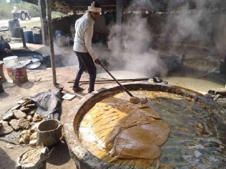 सितंबर के आखिरी हफ्ते से मार्च तक चलता है सीजन, देश के कई राज्यों में है यहां के गुड़ की मांग; प्रतिदिन 2 करोड़ से ज्यादा का होता है कारोबार हापुड़,Hapud - Dainik Bhaskar