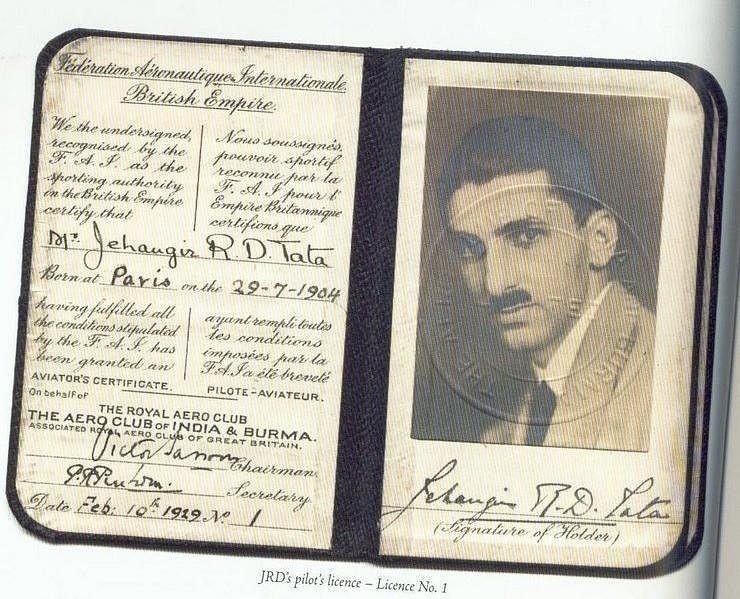 10 फरवरी 1929 को जेआरडी टाटा को पायलट का लाइसेंस मिला था। टाटा पहले भारतीय थे जिन्हें प्लेन उड़ाने का लाइसेंस मिला।