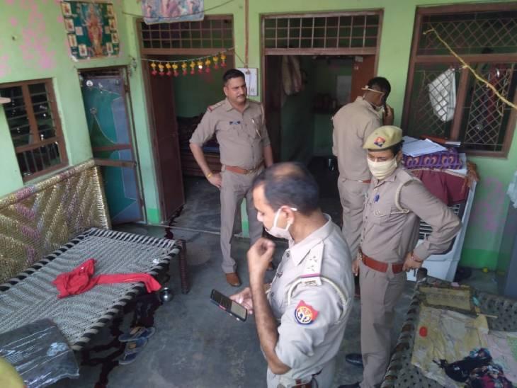 गला रेतकर हत्या कर दी, सौतेले बेटे और बहू के साथ रहती थी, दोनों फरार|हापुड़,Hapud - Dainik Bhaskar