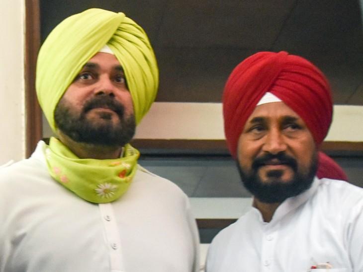 नवजोत सिद्धू ने गुरुवार को पंजाब के CM चरणजीत चन्नी से मुलाकात की थी। इस मुलाकात में सिद्धू की नाराजगी दूर करने की कोशिश की गई। - Dainik Bhaskar