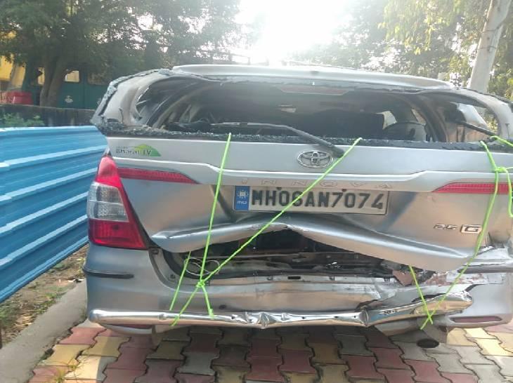 उत्तराखंड से घूमकर लौट रहे थे इनोवा सवार तीन युवक, गाजियाबाद में ट्रक ने पीछे से टक्कर मारी मिर्जापुर,Mirzapur - Dainik Bhaskar