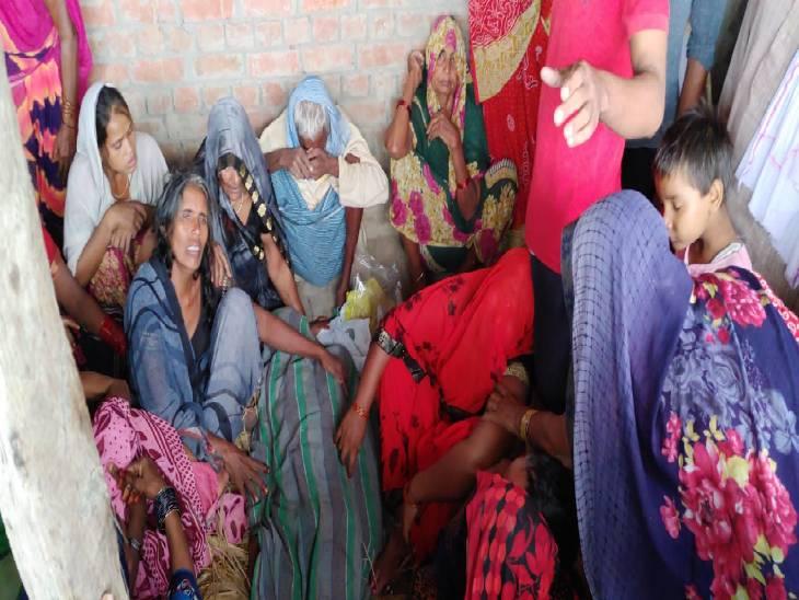 लगातार बारिश के चलते गिरी मड़ई की दीवार, अस्पताल ले जाते वक्त रास्ते में तोड़ा दम|चंदौली,Chandauli - Dainik Bhaskar