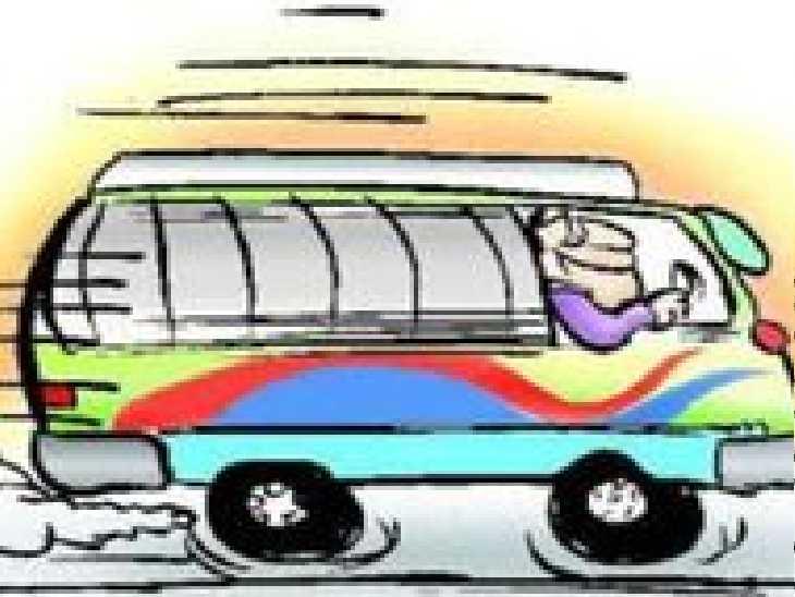 ड्राइवर की सूझबूझ से बची 60 यात्रियों की जान, डिवाइडर से टकराकर रोकी बस,हादसे में एक महिला गंभीर रूप से घायल|प्रयागराज (इलाहाबाद),Prayagraj (Allahabad) - Dainik Bhaskar