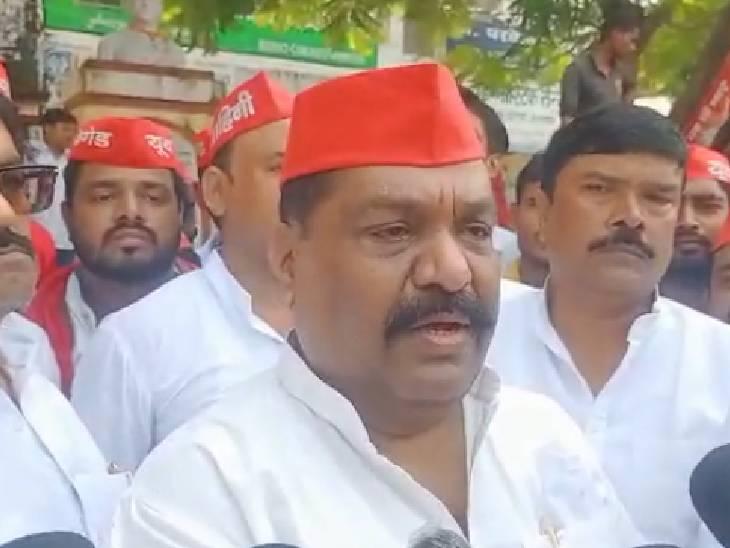 पूर्व मंत्री अरविंद सिंह गोप ने कहा- यूपी में नहीं बची कानून व्यवस्था, केंद्रीय मंत्री और मुख्यमंत्री दें इस्तीफा|बाराबंकी,Barabanki - Dainik Bhaskar