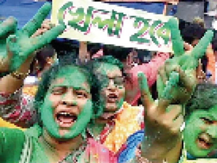 पश्चिम बंगाल में भाजपा की आंधी रोककर ताकतवर हुई ममता बनर्जी की तृणमूल कांग्रेस (टीएमसी) की राजनीतिक महत्वाकांक्षाएं अब राष्ट्रव्यापी हो गई हैं। - Dainik Bhaskar