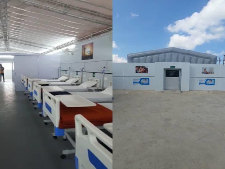 दस दिन में तैयार हुआ अस्पताल, ऑक्सीजन, आईसीयू की सुविधा; 50 मरीजों को भर्ती करने की क्षमता बैतूल,Betul - Dainik Bhaskar