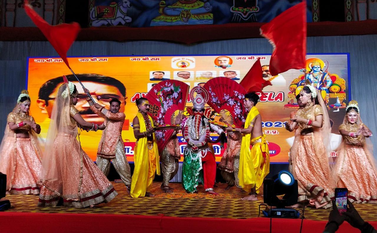 गणेश वंदना के आरंभ हुई अयोध्या की विश्व स्तरीय रामलीला,150 कलाकार निभा रहे भूमिका,आठ को अयोध्या पहुंचेगी सीता का रोल कर रहीं भाग्य श्री|अयोध्या,Ayodhya - Dainik Bhaskar