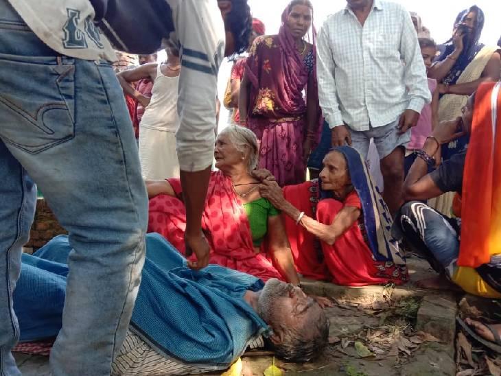 संदिग्ध परिस्थतियों में हुई मौत, परिजनों ने क्षेत्र के नशा करने वालों पर लगाया हत्या का मौत मिर्जापुर,Mirzapur - Dainik Bhaskar