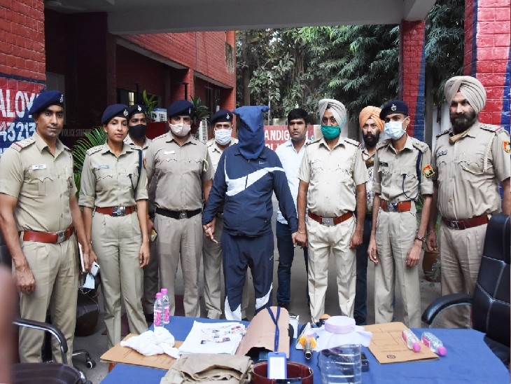 आरोपी ने रोपड़ जेल से बाहर आकर सेक्टर-29 से खरीदी थी वर्दी, महिला मित्र की गिरफ्तारी के लिए ट्राईसिटी में 6 जगह छापेमारी|चंडीगढ़,Chandigarh - Dainik Bhaskar