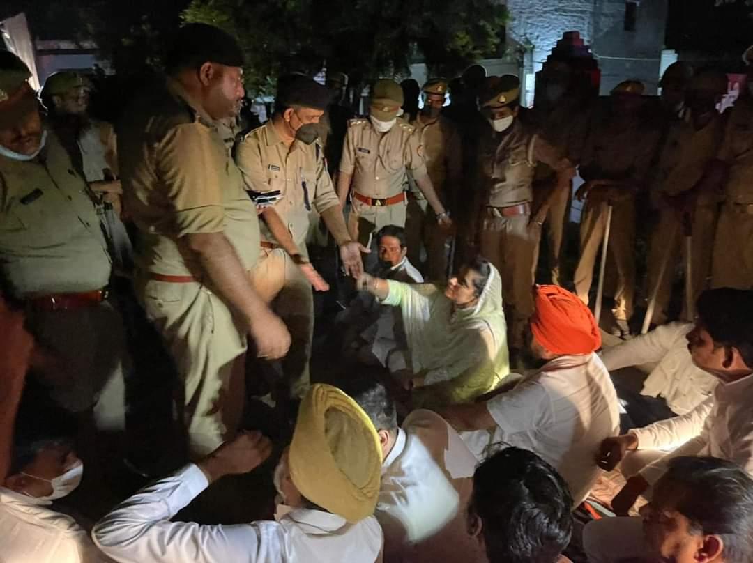राघव चड्ढा,हरपाल चीमा, कुलतार संधवां और बलजिंदर कौर ने पुलिस लाइन में काटी रात, बोले- पीड़ित परिवारों से मिले बगैर नहीं लौटेंगे|लुधियाना,Ludhiana - Dainik Bhaskar