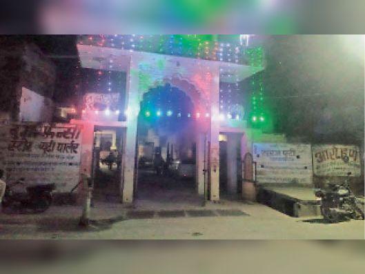 टोंक | ऐतिहासिक कंकाली माता मंदिर में नवरात्रि को लेकर की गई सजावट। - Dainik Bhaskar