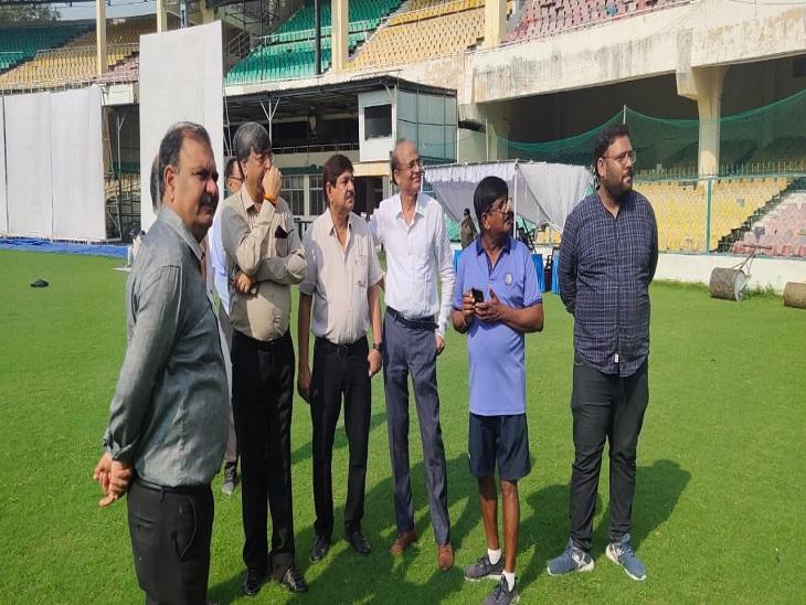 कोविड प्रोटोकॉल के तहत कराया जा सकता है मैच, टूटी टिन शेड और छतों को जल्द ठीक करने के निर्देश, लिफ्ट भी लगेगी कानपुर,Kanpur - Dainik Bhaskar