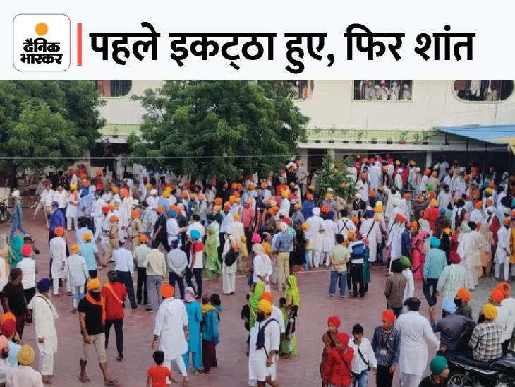दाताबंदी छोड़ पहुंचे CM 7 मिनट में लौटे, कृषि कानून और लखीमपुर घटना से नाराज थे; हंगामे से पहले लोगों को चुप कराया|ग्वालियर,Gwalior - Dainik Bhaskar