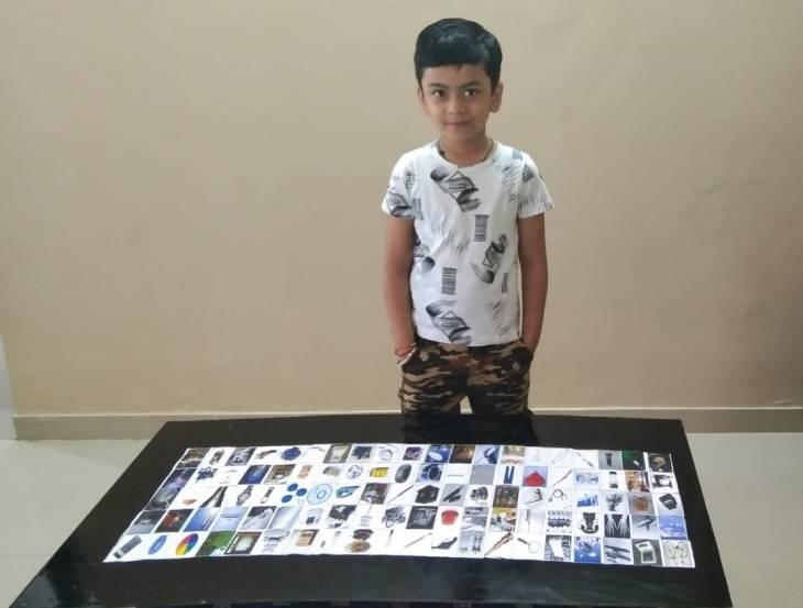 उज्जैन के 7 साल के बच्चे ने 1 मिनट 14 सेकंड में सौ वैज्ञानिकों और उनके इन्वेंशन के बारे में बताया, बना रिकॉर्ड|उज्जैन,Ujjain - Dainik Bhaskar