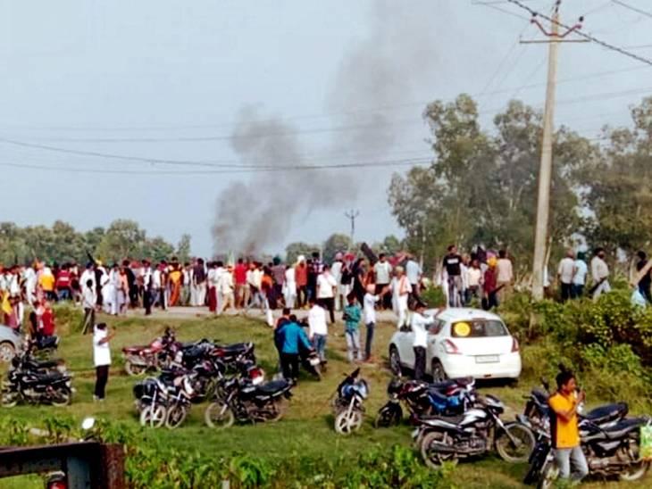 तीन अक्टूबर को लखीमपुर के तिकुनिया स्थित इसी जगह पर हिंसा हुई थी।