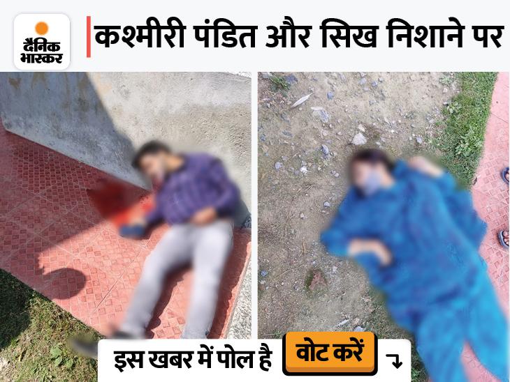 श्रीनगर के स्कूल में घुसे आतंकियों ने प्रिंसिपल और टीचर के आईडी कार्ड चेक किए, फिर गोलियां मारीं, दोनों की मौत|देश,National - Dainik Bhaskar