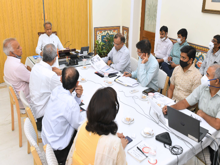 मुख्यमंत्री ने सीएमआर पर वीसी से ली बैठक।
