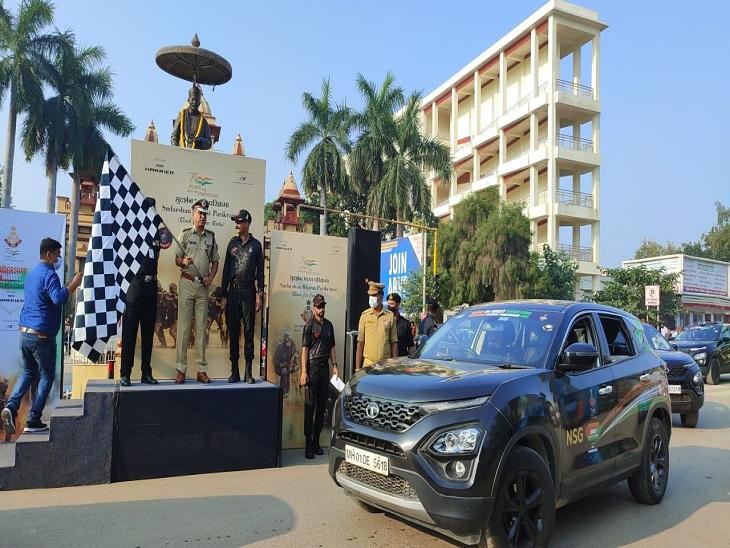 पुलिस कमिश्नर ने NSG की कार रैली को दिखाई झंडी, बोले- आपके अदम्य साहस और शौर्य पर देश को गर्व है|वाराणसी,Varanasi - Dainik Bhaskar
