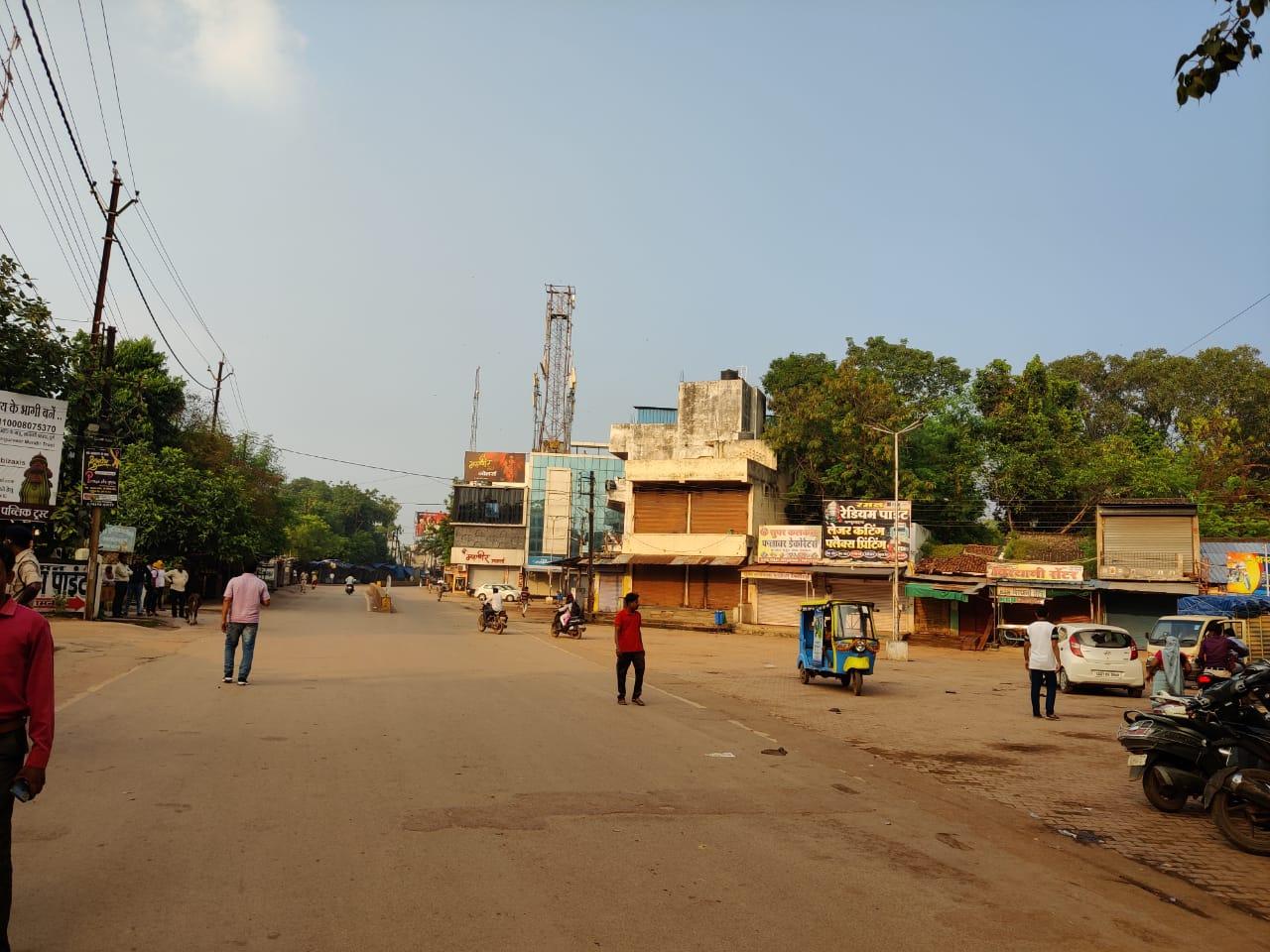 कवर्धा को लेकर विश्व हिंदू युवा मंच के विरोध-प्रदर्शन से पहले पुलिस ने बंद कराया बाजार, जिले से मंगाया फोर्स|भिलाई,Bhilai - Dainik Bhaskar