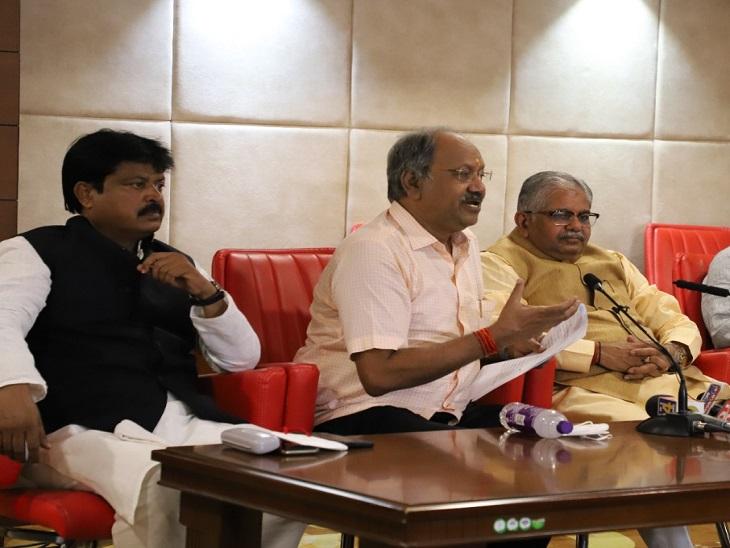 बृजमोहन ने CM की तुलना रोमन शासक नीरो से की, कौशिक बोले- एकतरफा कार्रवाई हुई; भाजयुमो ने सरकार का पुतला फूंका|रायपुर,Raipur - Dainik Bhaskar
