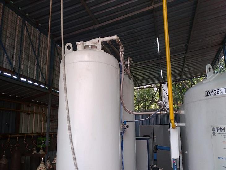 आजमगढ़ के मंडलीय चिकित्सालय में आज से शुरू हुआ 265 लीटर प्रतिदिन उत्पादन की क्षमता का ऑक्सीजन प्लांट। - Dainik Bhaskar