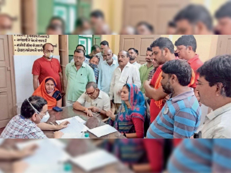 सुजानगढ़ अस्पताल की अव्यवस्थाओं पर भाजपा ने पीएमओ का किया घेराव|चूरू,Churu - Dainik Bhaskar